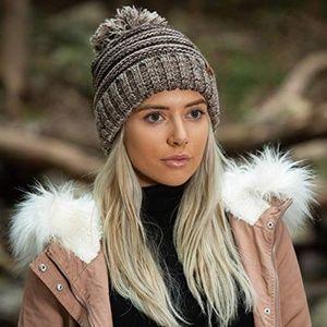 New! Women's Puff Ball Beanie Hat